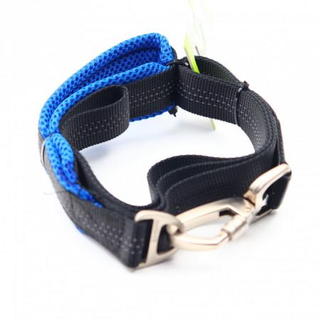 Lesa pentru caini de talie mare, Albastru, 125 cm