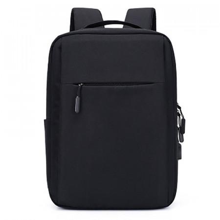 Rucsac Laptop pentru Barbati, cu cablu USB si port extern inclus, Negru