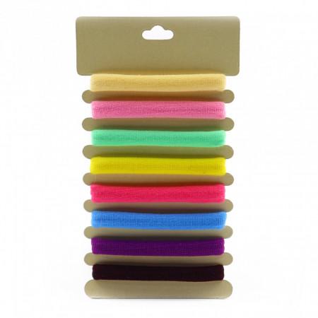Set 8 buc, elastic par, Multicolor