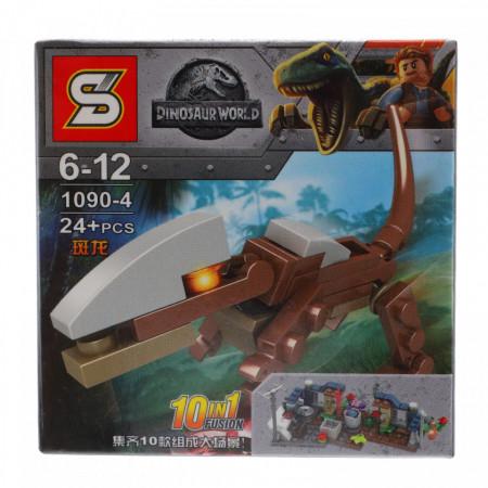 Set de constructie, Lumea dinozaurilor si T-Rex, 24 piese