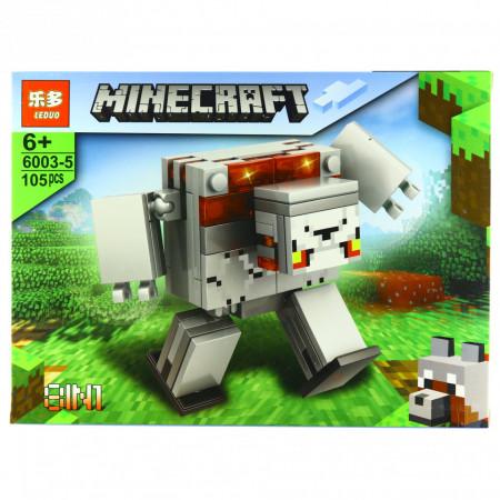 Set de constructie, tip Minecraft, Regele Fortaretei, 105 piese