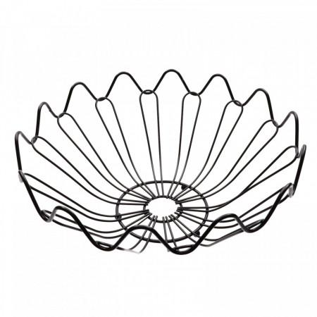 Fructiera, cu design modern, floare, 27.5 x 11.5 cm, Negru