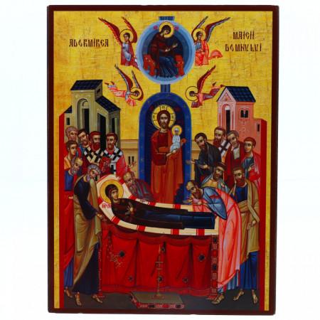 Icoana Adormirea Maicii Domnului, lemn, 14x19 cm