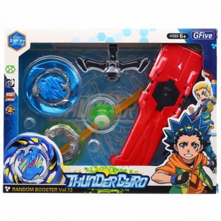 Jucarie lansator tip BeyBlade Thunder Gyro, Albastru