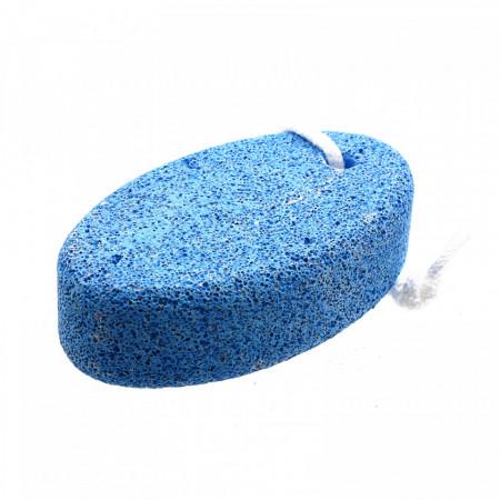 Piatra ponce, pentru ingrijire calcaie, model oval, 10.3 x 6 x 3 cm, Bleu