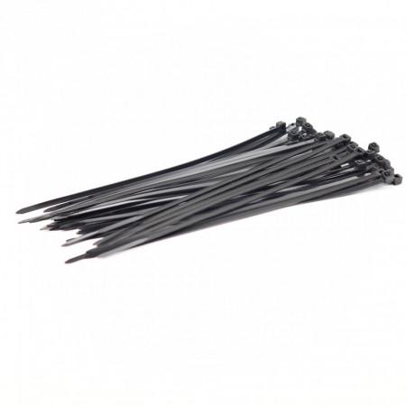 Set 40 buc, Soricei de Plastic 200 mm x 3.6 mm, din Poliamida 6.6 (PA66), Negru