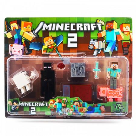 Set 8 accesorii si figurine tip Minecraft si creeperul negru