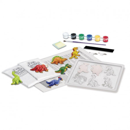 Set creativ mulaj 3D si pictura - Dinozauri, DIY Kit