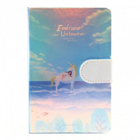 Agenda nedatata Embrace the Unicorn, 9.5 x 14.5cm, 244 file, Albastru