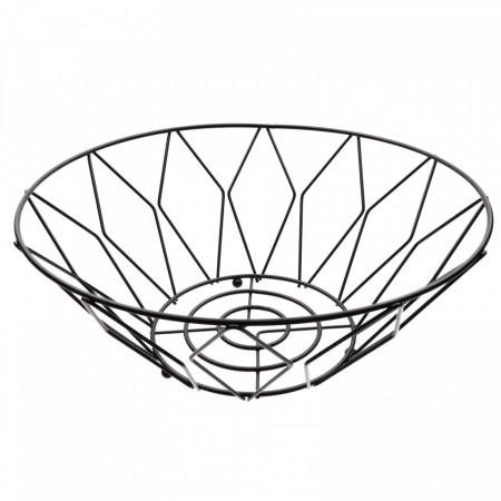 Fructiera, cu design modern, romburi, 26 x 10 cm, Negru