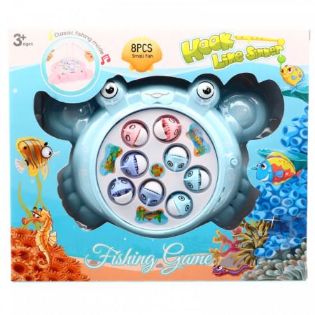 Joc competitiv cu undita si pesti magnetici pentru copii, Bleu