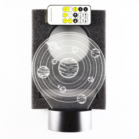 Lampa De Veghe 3D LED, Planete, 7 Culori, Lumina Ambientala, Alimentare USB cu Incarcator priza