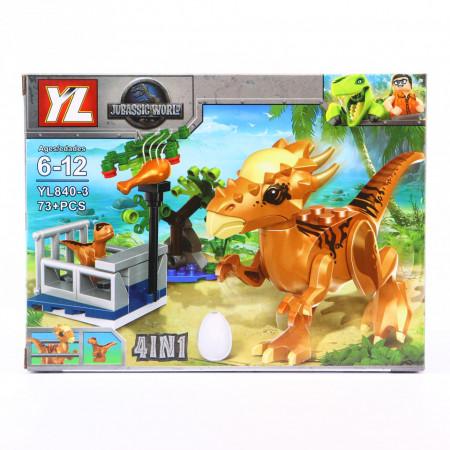 Set de constructie Lego, Cusca dinozaurilor feroce, 73 Piese