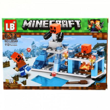 Set de constructie, Lumea Minecraft si baza creeperilor fiorosi, 112 piese