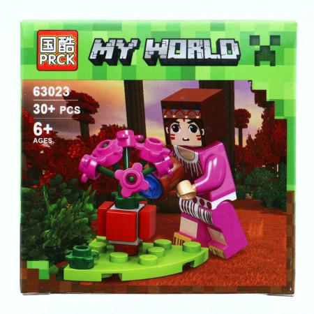 Set de constructie, Minecraft my world, Gradina de flori, 30 piese