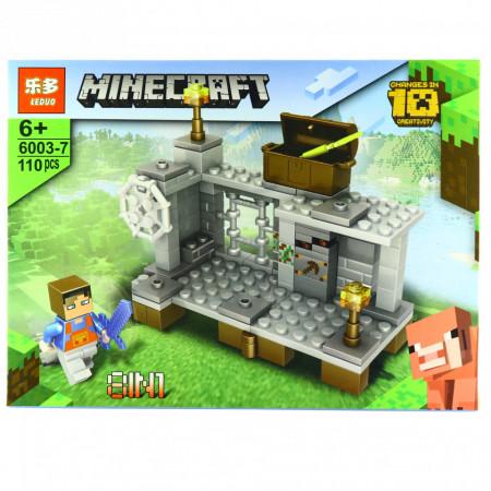 Set de constructie, tip Minecraft, Poarta Magica, 110 piese