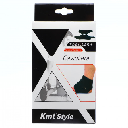 Suport elastic pentru glezna, prindere cu arici, compatibil cu activitatea fizica, ofera confort si siguranta, marime universala, Negru