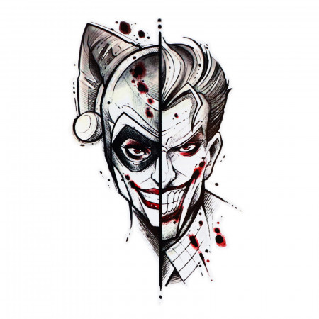 Tatuaj temporar, Joker si Harley Quinn, WS056, 16 x 9 cm
