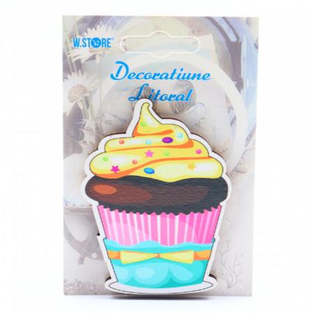 Decoratiune cu magnet, Prajitura cu crema cu vanilie si ciocolata