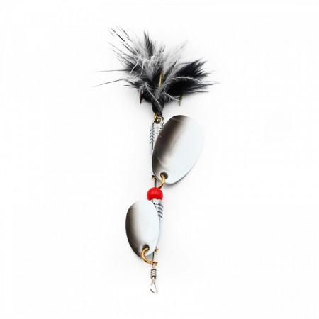 Lingurita oscilanta pescuit, 1-3, Negru si Alb, 1-3#