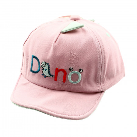 Sapca pentru copii, cu imprimeu Dino, 3-7 ani, Roz