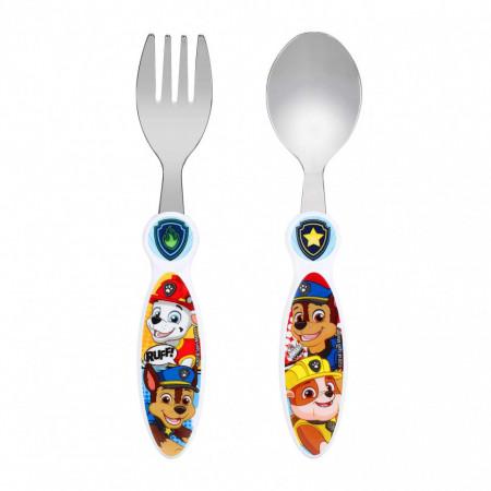 Set 2 tacamuri, furculita si lingura pentru copii Paw Patrol, 15.5 cm