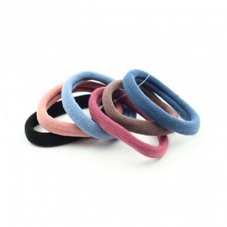Set 6 buc, elastic par, Multicolor