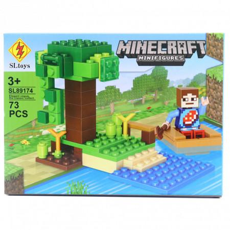 Set de constructie Lego, Copacul Gigant tip Minecraft, 73 Piese