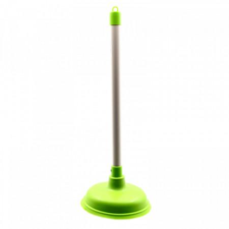 Ventuza / Pompa de desfundat chiuveta/WC/cada, 42 x 16 cm, Verde