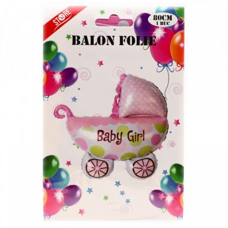Balon folie, Baby Girl, roz, 80 cm