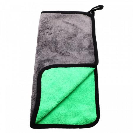 Laveta din microfibra, absorbanta, pentru toate suprafetele, 30 x30 cm, Gri cu verde