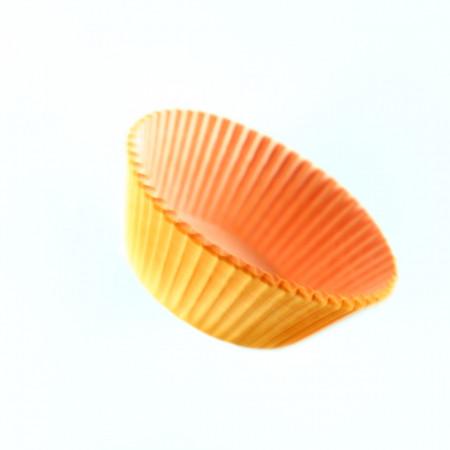 Set 100 bucati, forme de copt din hartie pentru briose, 8cm, Portocaliu