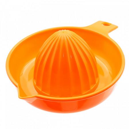 Storcator pentru citrice, din plastic cu maner, Portocaliu