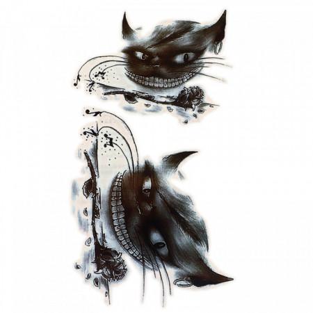 Tatuaj temporar, Pisica Fericita, GF999, 16 x 9 cm