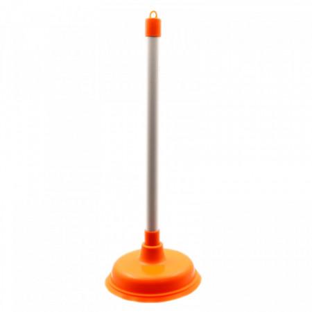 Ventuza / Pompa de desfundat chiuveta/WC/cada, 42 x 16 cm, Portocaliu