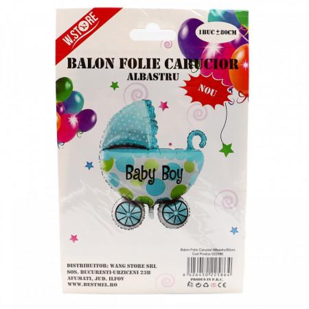Balon folie, Baby Boy, albastru, 80 cm