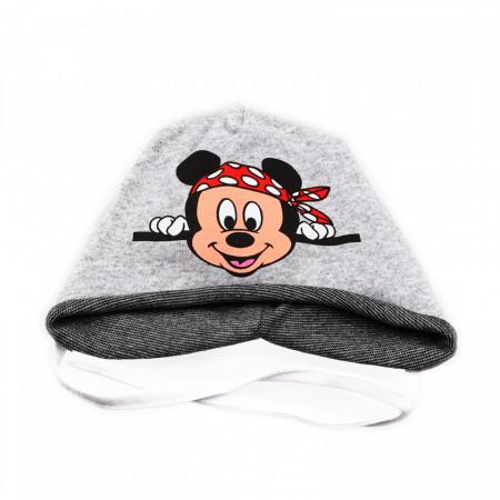 Caciula pentru baieti, imprimeu Mickey Mouse, 1-3 ani, Gri