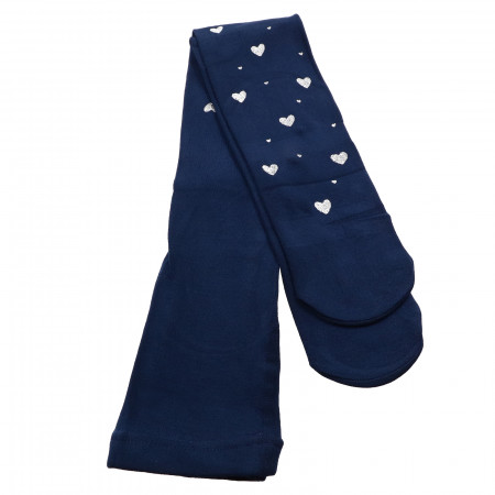 Dress pentru fetite, cu model inimi, 7-8 ani, 122-128 cm, Bleumarin