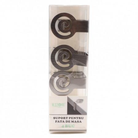 Set 4 bucati, Suport pentru prindere fata de masa, inox, 4.8 x 4.5 cm