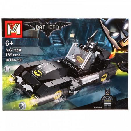 Set de constructie, Batman si Batmobilul fioros, 189 piese