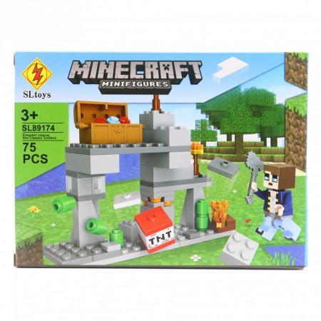 Set de constructie Lego, Marea explozie tip Minecraft, 75 Piese