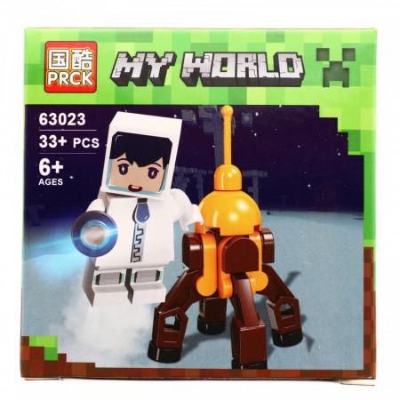 Set de constructie, Minecraft my world, Astronautul si baza lunara, 33 piese