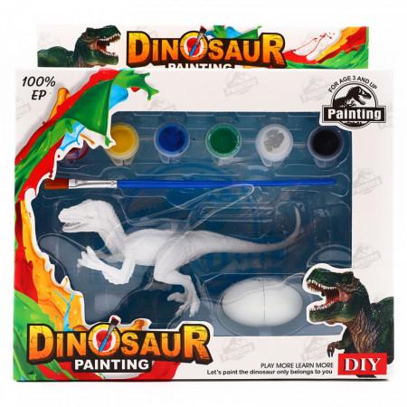 Set de Pictat Figurina in miniatura Dinozaur - Indominus Rex, tempera, culori acrilice, 15 cm