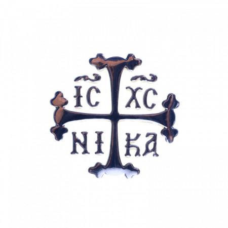 Stiker bisericesc, Semnul Crucii, 6 x 6 cm, Argintiu