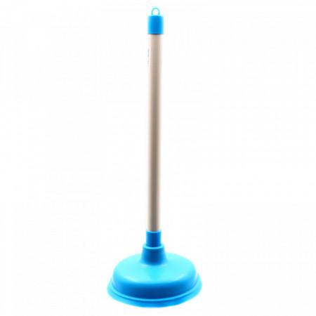 Ventuza / Pompa de desfundat chiuveta/WC/cada, 42 x 16 cm, Albastru