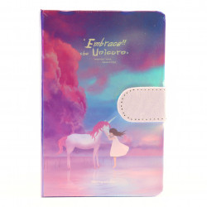 Agenda nedatata Embrace the Unicorn, 9.5 x 14.5cm, 244 file, Mov