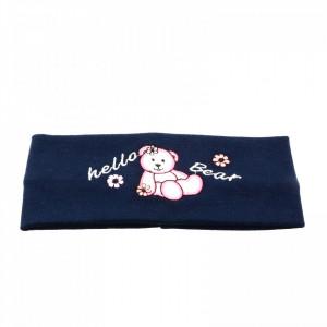 Bentite pentru fete, cu imprimeu ursulet, Bleumarin