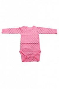 Body copii, 4 capse, Imprimeu roz cu punctulete negre, 6 - 9 luni, BC69BC8