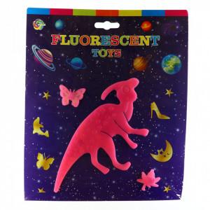 Decoratiune pentru camera copilului, Dinozaur fosforescent, Roz