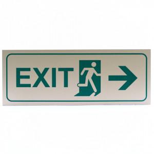 Indicator metalic autoadeziv, Exit, 24 x 9 cm